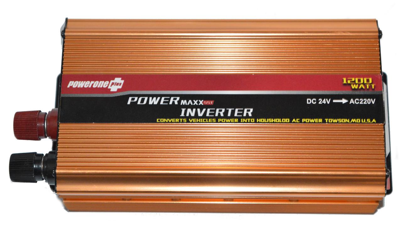 Перетворювач POWERONE 24V-220V 1200W