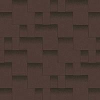 Битумная черепица Акваизол коллекция «Акцент» Горный каньон  (коричневый + чёрная тень)