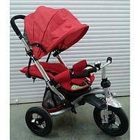 Трехколесный детский велосипед Faster trike 698 с опускающейся спинкой (красный)