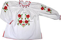 Вышиванка Трояндовий цвіт детская для девочки