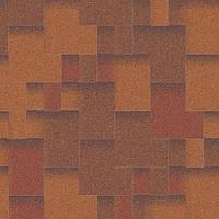 Битумная черепица Акваизол коллекция «Акцент» Синай (красный + коричневый + антик)