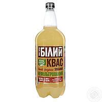 Квас хлебный Квас Тарас Белый нефильтрованный сильногазированный 1500мл