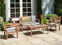 Комплект садовой мебели Alexander Rose из красного дерева махогань с коллекции Heritage