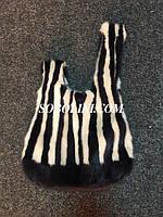 Сумка уникальная из натурального меха норки, подарок к заказу норковой шубы