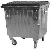 Контейнер для сбора ТБО с плоской пластиковой крышкой