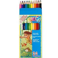Карандаши  24 цвета шестигранные, Colorite (new),  Marco