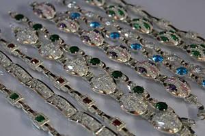 Серебряные браслеты с золотыми накладками