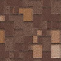 Битумная черепица Акваизол коллекция «Акцент» Горячий шоколад (коричневый + антик + чёрный + серый), фото 1