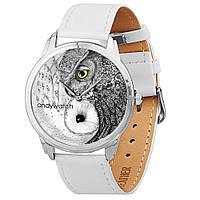 Наручные часы AndyWatch Совы инь-янь white оригинальный подарок прикольный