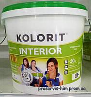 Краска для внутренних работ Колорит Интериор (Interior) 7кг 5л