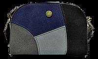Небольшая женская сумочка DAVID DJONES на плечо темно зеленого цвета DDP-028424, фото 1