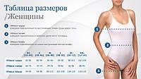 Купальник женский цельнокройный КЖ - 769 Синяя полоска ТАБЛИЦА РАЗМЕРОВ