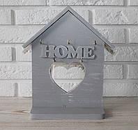 "Ключница настенная деревянная ""Home"" rd07. Подарки в стиле прованс, фото 1"
