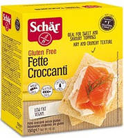Хлебцы-хрустики без глютена Fette croccanti Dr. Schär 150г Италия