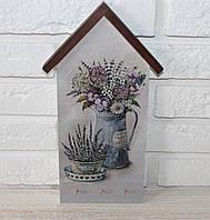 """Ключница настенная домик """"Полевые цветы"""". Подарки в стиле прованс"""