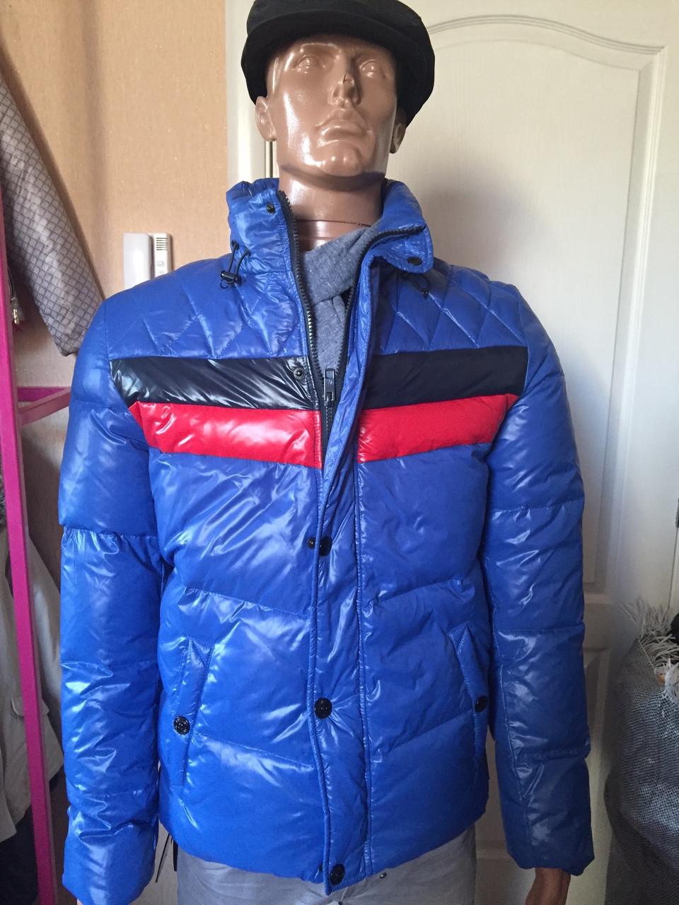 Куртка-пуховик мужская зимняя синяя Antony Morato