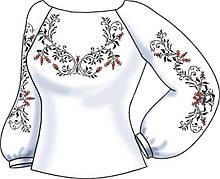 СВЖБ-62. Заготовка Жіноча сорочка лляна біла
