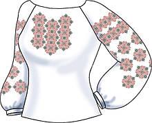 СВЖБ-63. Заготовка Жіноча сорочка лляна біла