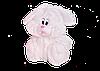 Зайчик Алина сидячий 55 см белый