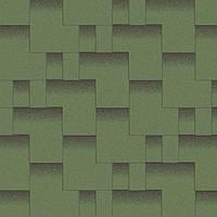 Битумная черепица Акваизол коллекция «Акцент» Альпийский луг (зелёный + чёрная тень)