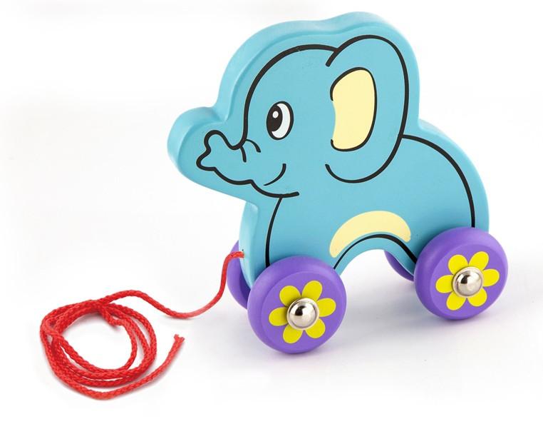 Игрушка-каталка Слоник Viga toys (50091)
