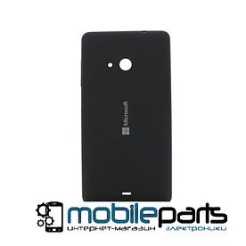 Оригинальная задняя панель корпуса (крышка) для Nokia Lumia 535 dual sim black (Черная)