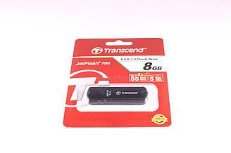 Флешка Transcend JetFlash 700 8GB, USB 2.0 Flash Driver (ВИДЕО И ФОТО НЕ ПОДДЕРЖИВАЕТ). Распродажа
