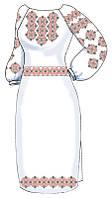 ВПЖЛ-63. Заготовка Жіноче плаття лляне сіре.