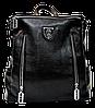 Ультра модный рюкзак из экокожи черного цвета YYK-000366