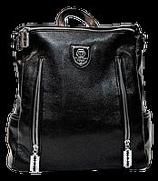 Ультра модный рюкзак из экокожи черного цвета YYK-000366, фото 1