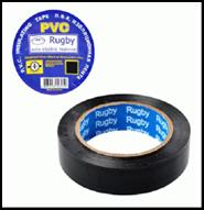 """Изолента  PVC 25м """"RUGBY"""" черная"""