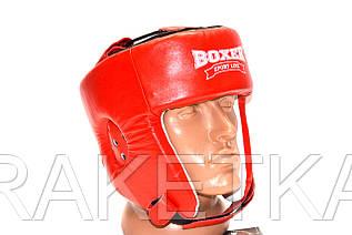 """Боксерский шлем кожаный """"BOXER"""" с печатью ФБУ."""