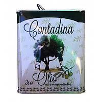 Оливковое масло первого холодного отжима Olio Extra-Vergine di oliva Contadina 3 л .