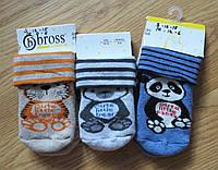 Теплые детские носки с тормозками Bross (размеры 13-15, 16-18,19-21), фото 1