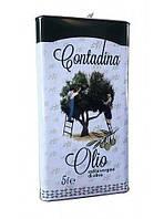 Оливковое масло первого холодного отжима Olio Extra-Vergine di oliva Contadina 5 л .