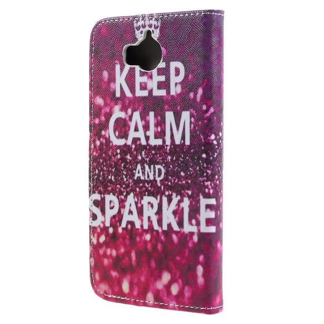 чехол книжка на Huawei Y5 2017 Keep Calm and Sparkle