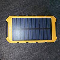 Солнечное зарядное устройство 10000 мАч Solar Power Bank с фонариком