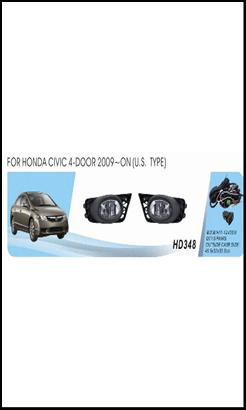 """Фары доп.модель Honda Civic 4-door/2009-11/HD-348W/USA TYPE/эл.проводка - Компания """"DEYAN"""" в Днепре"""
