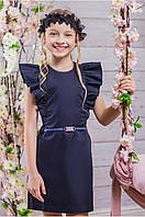Сарафан школьный Цвет синий Рост 122-152 ТМ Барбарис