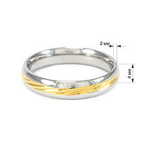 Кольцо с желтой вставкой Арт. RN029SL (16), фото 4