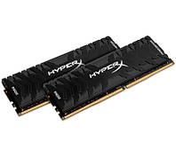 Память 8Gb x 2 (16Gb Kit) DDR4, 2400 MHz, Kingston HyperX Predator Black, 12-14-14, 1.35V, с радиатором (HX424C12PB3K2/16)
