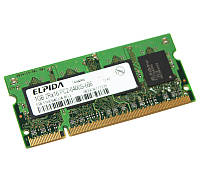 Память SO-DIMM 1Gb, DDR2, 800 MHz (PC2-6400), Elpida (EBE11UE6ACUA-8G-E)