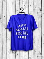Футболка с принтом A.S.S.C. Anti Social social club мужская синяя