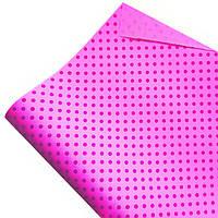 """Подарочная бумага ретро """"Горохи""""(48) малиновые на розовом"""