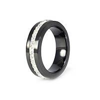 Кольцо керамическое с фианитами по кругу черное Арт. RN005CR (16), фото 3