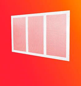 Декоративная решетка для радиаторов отопления под гипсокартон из металла
