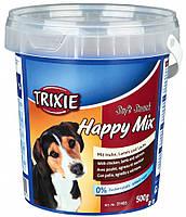Ласощі Trixie Soft Snack Happy Mix для собак з куркою, бараниною і лососем, 500 г
