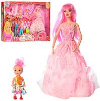 Кукла с набором одежды с дочкой и лошадкой.