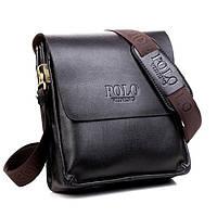 Мужская сумка через плечо Polo Videng коричневая