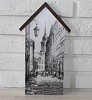 """Ключница настенная домик """"Старый город"""". Подарки в стиле прованс"""